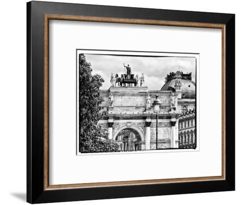 Arc De Triomphe du Carrousel, the Louvre Museum, Paris, France-Philippe Hugonnard-Framed Art Print