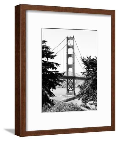 Landscape, Golden Bridge, Black and White Photography, San Francisco, California, United States-Philippe Hugonnard-Framed Art Print