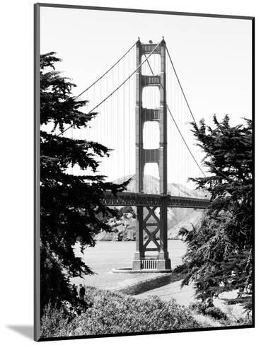 Landscape, Golden Bridge, Black and White Photography, San Francisco, California, United States-Philippe Hugonnard-Mounted Photographic Print