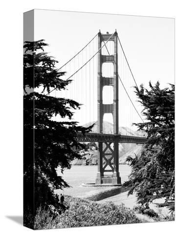 Landscape, Golden Bridge, Black and White Photography, San Francisco, California, United States-Philippe Hugonnard-Stretched Canvas Print