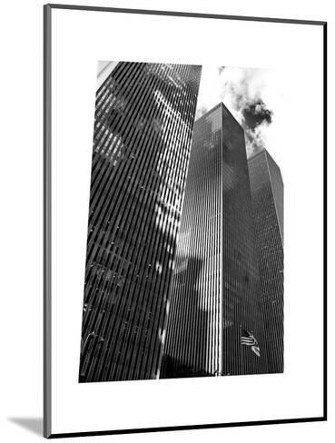Symetric Perspective Skyscraper in Manhattan, NYC, White Frame, Full Size Photography-Philippe Hugonnard-Mounted Photographic Print