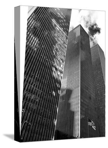 Symetric Perspective Skyscraper in Manhattan, NYC, White Frame, Full Size Photography-Philippe Hugonnard-Stretched Canvas Print