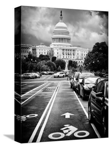 Bicycle Path Leading to the Capitol, US Congress, Washington D.C, District of Columbia-Philippe Hugonnard-Stretched Canvas Print