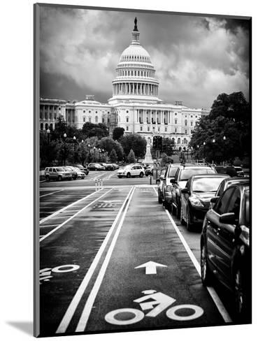 Bicycle Path Leading to the Capitol, US Congress, Washington D.C, District of Columbia-Philippe Hugonnard-Mounted Photographic Print