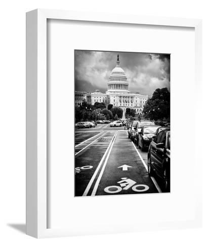 Bicycle Path Leading to the Capitol, US Congress, Washington D.C, District of Columbia-Philippe Hugonnard-Framed Art Print