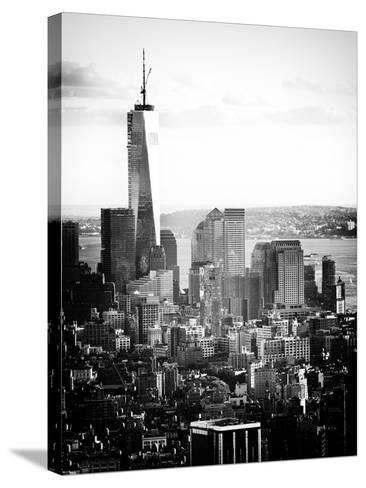 Landscape Sunset View, One World Trade Center, Manhattan, New York Vintage-Philippe Hugonnard-Stretched Canvas Print