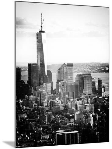 Landscape Sunset View, One World Trade Center, Manhattan, New York Vintage-Philippe Hugonnard-Mounted Photographic Print