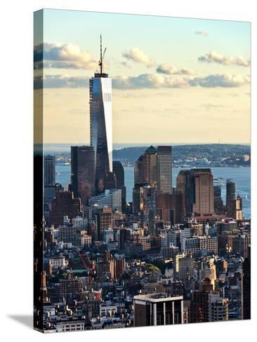 Landscape Sunset View, One World Trade Center, Manhattan, New York, United States-Philippe Hugonnard-Stretched Canvas Print