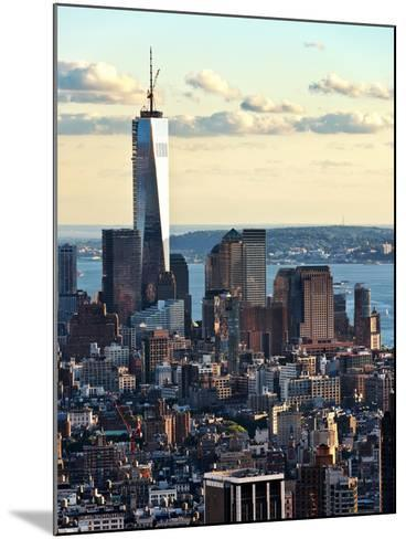 Landscape Sunset View, One World Trade Center, Manhattan, New York, United States-Philippe Hugonnard-Mounted Photographic Print