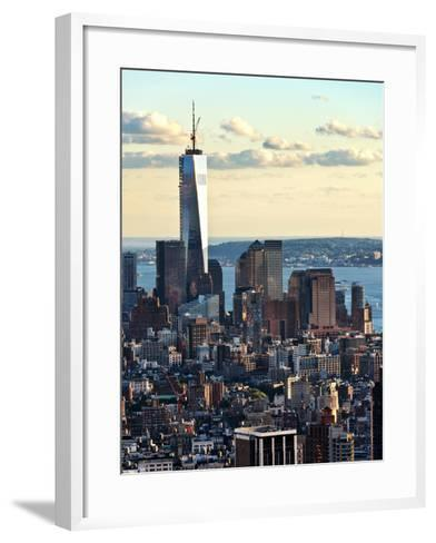 Landscape Sunset View, One World Trade Center, Manhattan, New York, United States-Philippe Hugonnard-Framed Art Print