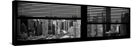 Window View with Venetian Blinds: 42nd Street with theTop of the Empire State Building-Philippe Hugonnard-Stretched Canvas Print