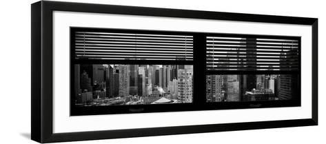 Window View with Venetian Blinds: 42nd Street with theTop of the Empire State Building-Philippe Hugonnard-Framed Art Print