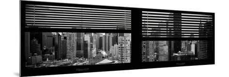 Window View with Venetian Blinds: 42nd Street with theTop of the Empire State Building-Philippe Hugonnard-Mounted Photographic Print