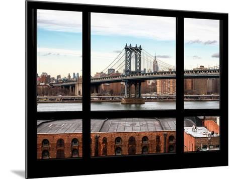 Manhattan Bridge with the Empire State Building - New York, USA-Philippe Hugonnard-Mounted Photographic Print