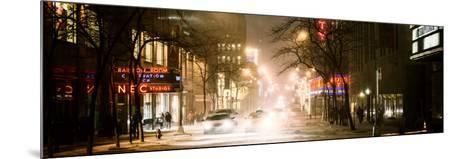 Street Scenes and Urban Night Panoramic Landscape in Winter under the Snow-Philippe Hugonnard-Mounted Photographic Print