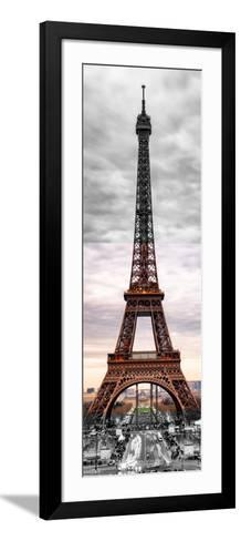Eiffel Tower, Paris, France - Black and White and Spot Color Photography-Philippe Hugonnard-Framed Art Print