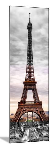 Eiffel Tower, Paris, France - Black and White and Spot Color Photography-Philippe Hugonnard-Mounted Photographic Print