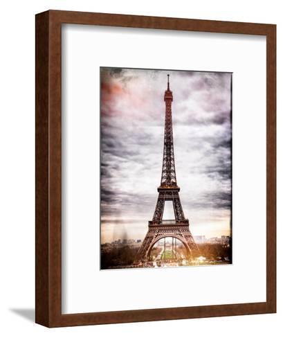 Instants of Paris Series - Eiffel Tower, Paris, France-Philippe Hugonnard-Framed Art Print