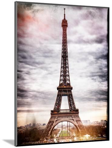 Instants of Paris Series - Eiffel Tower, Paris, France-Philippe Hugonnard-Mounted Photographic Print