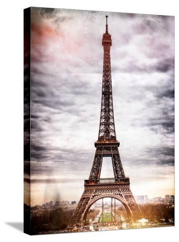 Instants of Paris Series - Eiffel Tower, Paris, France-Philippe Hugonnard-Stretched Canvas Print