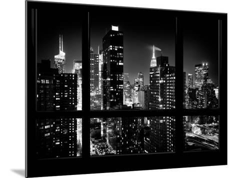 Times Square and 42nd Street with the Empire State Building by Night - Manhattan, New York, USA-Philippe Hugonnard-Mounted Photographic Print