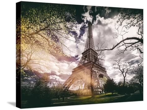 Instants of Series - Eiffel Tower - Paris, France-Philippe Hugonnard-Stretched Canvas Print