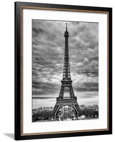 Eiffel Tower, Paris, France - Black and White Photography-Philippe Hugonnard-Framed Art Print