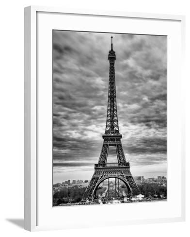 Eiffel Tower, Paris, France - Black and White Photography-Philippe Hugonnard-Framed Art Print