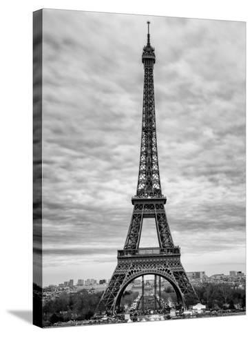 Eiffel Tower, Paris, France - Black and White Photography-Philippe Hugonnard-Stretched Canvas Print