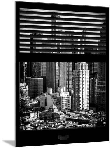 Window View with Venetian Blinds: Theater District and Times Square - Manhattan-Philippe Hugonnard-Mounted Photographic Print