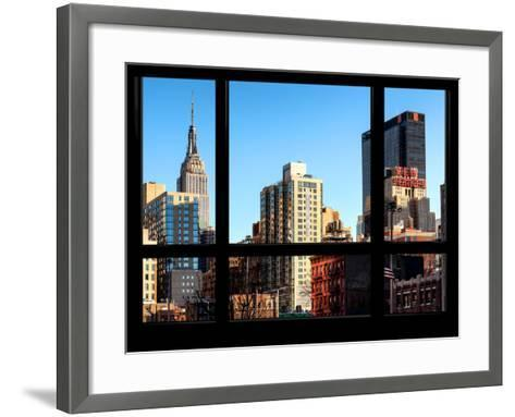 The Empire State Building and New Yorker Hotel - New York, USA-Philippe Hugonnard-Framed Art Print