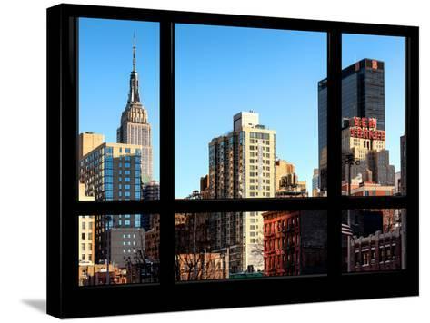The Empire State Building and New Yorker Hotel - New York, USA-Philippe Hugonnard-Stretched Canvas Print