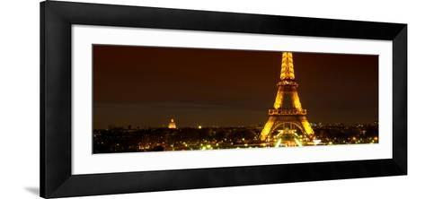 Panoramic Cityscape Paris with Eiffel Tower at Night-Philippe Hugonnard-Framed Art Print