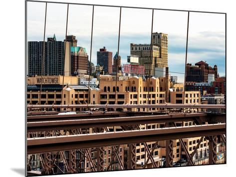 View of Brooklyn Bridge of the Watchtower Building-Philippe Hugonnard-Mounted Photographic Print