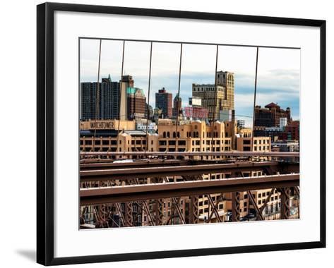 View of Brooklyn Bridge of the Watchtower Building-Philippe Hugonnard-Framed Art Print