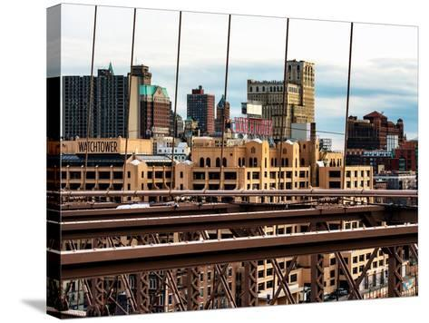 View of Brooklyn Bridge of the Watchtower Building-Philippe Hugonnard-Stretched Canvas Print