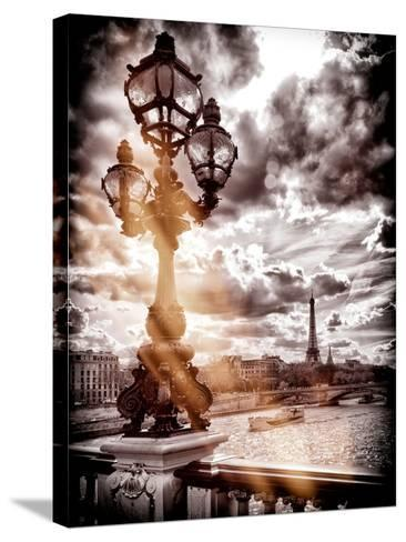 Instants of Series - Alexander III and Eiffel Tower - Paris, France-Philippe Hugonnard-Stretched Canvas Print