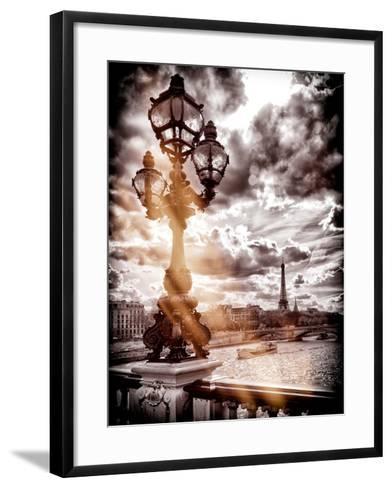 Instants of Series - Alexander III and Eiffel Tower - Paris, France-Philippe Hugonnard-Framed Art Print