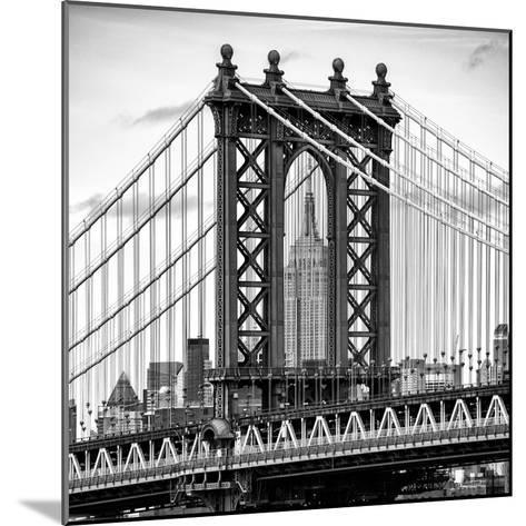 Manhattan Bridge with the Empire State Building Center from Brooklyn Bridge-Philippe Hugonnard-Mounted Photographic Print