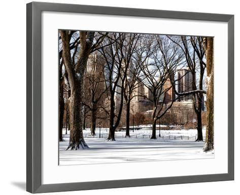 Winter Snow in Central Park View-Philippe Hugonnard-Framed Art Print