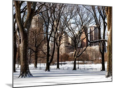 Winter Snow in Central Park View-Philippe Hugonnard-Mounted Photographic Print