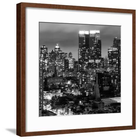 Cityscape Manhattan by Night-Philippe Hugonnard-Framed Art Print