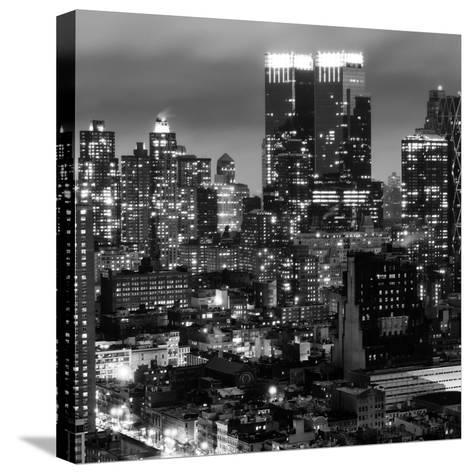 Cityscape Manhattan by Night-Philippe Hugonnard-Stretched Canvas Print