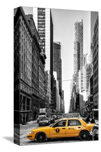 Urban Scene with Yellow Taxis-Philippe Hugonnard-Stretched Canvas Print