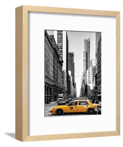 Urban Scene with Yellow Taxis-Philippe Hugonnard-Framed Art Print