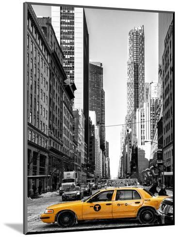 Urban Scene with Yellow Taxis-Philippe Hugonnard-Mounted Photographic Print
