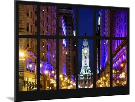 Window View - City Hall and Avenue of the Arts by Night - Philadelphia - Pennsylvania-Philippe Hugonnard-Mounted Photographic Print