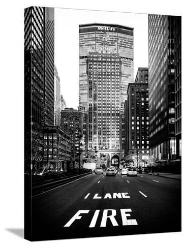 The Metlife Building Towers over Grand Central Terminal at Nightfall-Philippe Hugonnard-Stretched Canvas Print