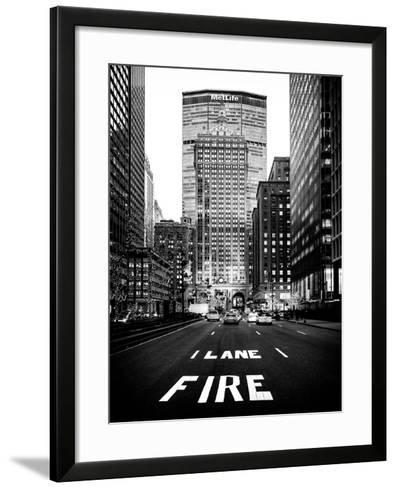 The Metlife Building Towers over Grand Central Terminal at Nightfall-Philippe Hugonnard-Framed Art Print