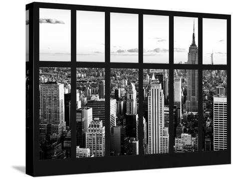 Window View - Landscape with the Empire State Building and the 1 WTC - Manhattan - NYC-Philippe Hugonnard-Stretched Canvas Print